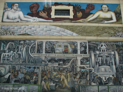Detroit 2 an urban garden and the diego rivera industry for Detroit rivera mural